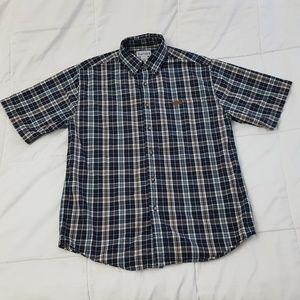 Carhartt Casual Work Shirt Mens Medium Blue Plaid